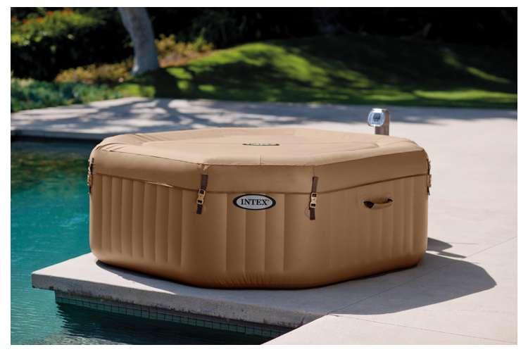 intex pure spa 4 person octagon bubble hot tub with six filter cartridges 28413e 3 x 29001e. Black Bedroom Furniture Sets. Home Design Ideas