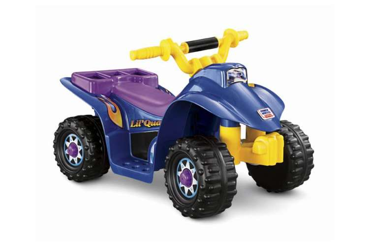 Fisher price power wheels lil 39 quad 6v electric ride on for Fisher price motorized cars