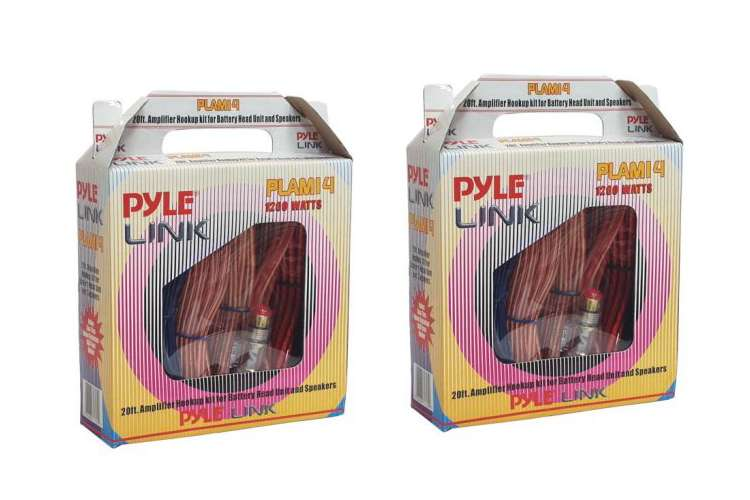 PLAM14�Pyle PLAM14 8 Gauge Amplifier Wiring Installation Kit with RCA (Pair)